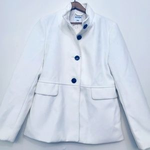 Old Navy White Button Peacoat